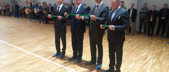 Atklāta Cesvaines vidusskolas sporta zāle