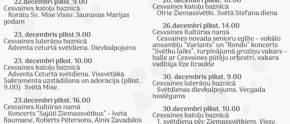 Ziemassvētku un Jaungada laika pasākumi